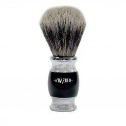Blaireau de rasage O'barber manche noir et métal