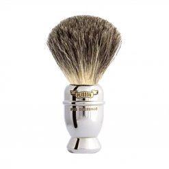 Blaireau Plisson Tradition Prestige en nickel chromé Antique 955422