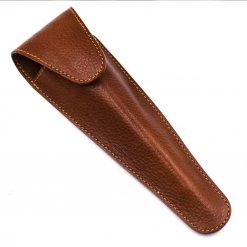 Etui cuir marron pour rasoir Mach3