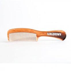 Peigne cheveux King Brown Pomade façon écaille de tortue