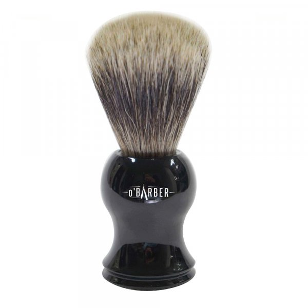 Blaireau de rasage O'barber manche plastique noir