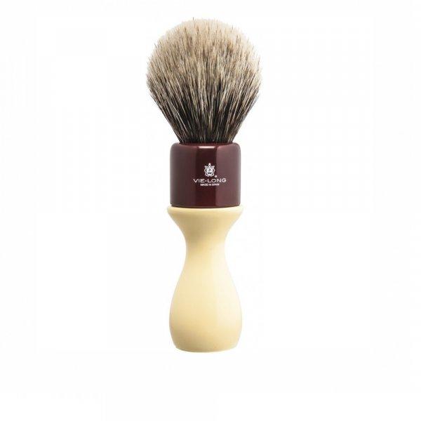 Blaireau rasage à manche long poil pur blaireau blanc Vie-Long