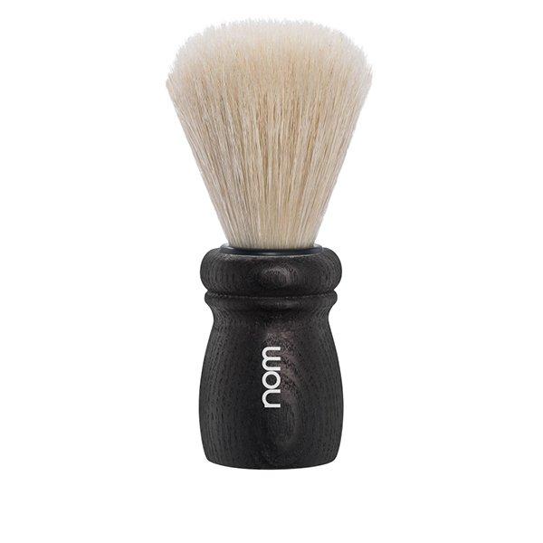 Blaireau rasage hjm de barbier en bois de Hêtre noir Elegance