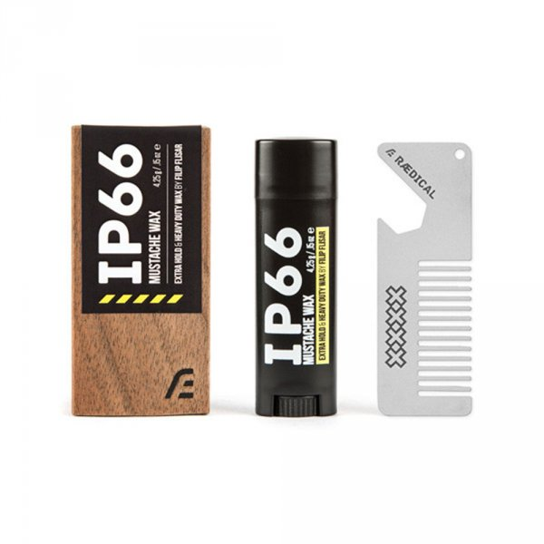 Cire à moustache Raedical IP66 fournie avec peigne