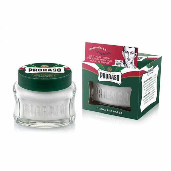 Crème avant rasage Proraso format Vert