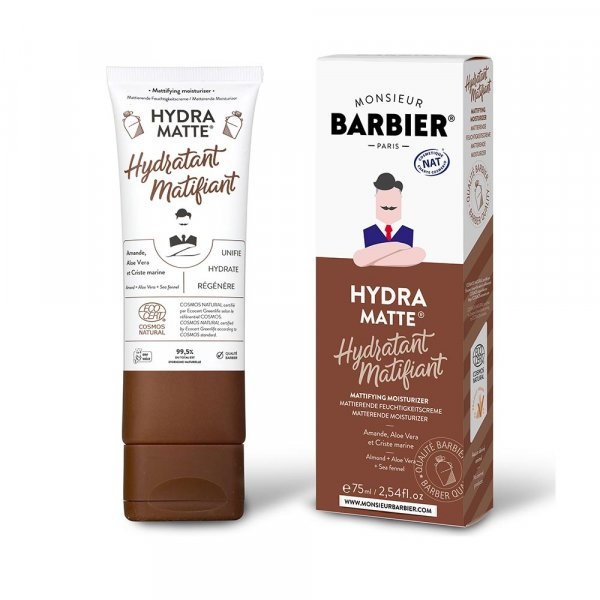 Crème hydratante matifiante visage Hydra Matte Monsieur Barbier