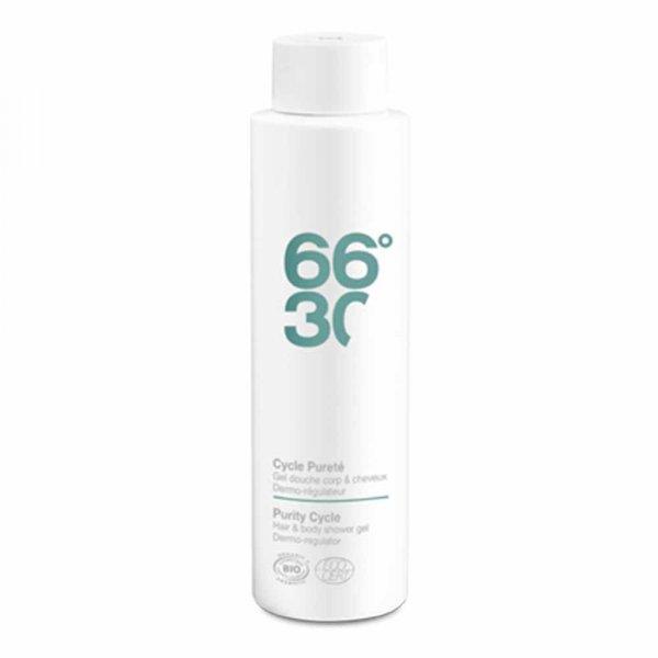 Gel douche corps et cheveux homme 66°30