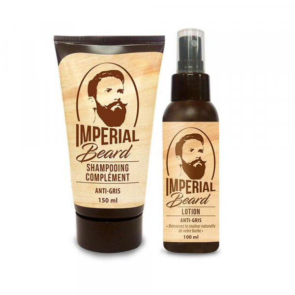 Kit entretien barbe anti barbe grise Imperial Beard