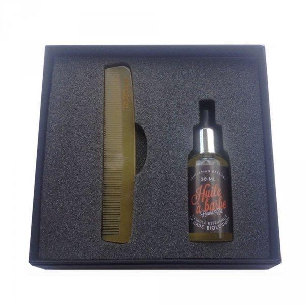 Kit entretien barbe Gentleman Barbier peigne huile boisé