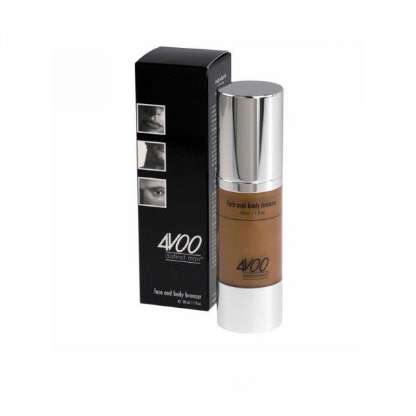 Maquillage homme crème visage et corps teintée bronze 4VOO
