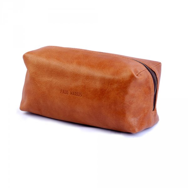 Trousse de toilette homme Paul Marius Le Barbier Cuir Naturel