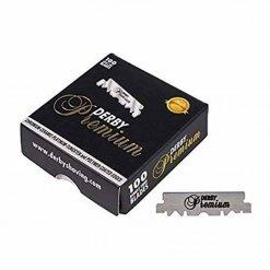 Demi-Lames de rasoir Derby Dark Premium x100