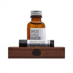 Kit entretien barbe Beardbrand Spiced Citrus avec Huile et Cire