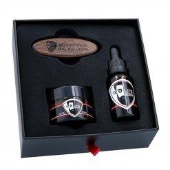Kit entretien barbe Goelds avec huile baume et brosse BOX 2