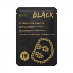 Masque charbon noir flocons d'or 24 carats