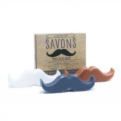 Pack de 3 savons solides moustaches
