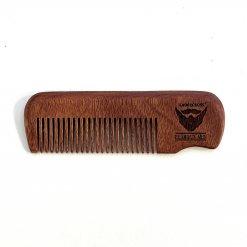 Peigne à barbe en bois de Moudong rouge