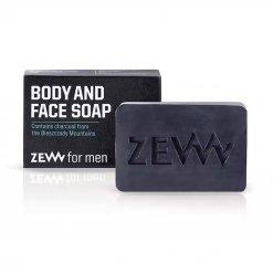 Savon corps et visage ZEW For Men au charbon noir