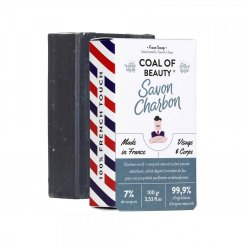 Savon solide surgras visage et corps au charbon Monsieur Barbier Coal of Beauty