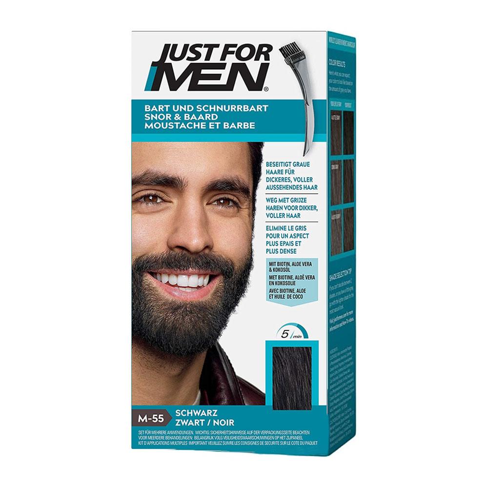 teinture barbe just for men caract re noir naturel jfm55. Black Bedroom Furniture Sets. Home Design Ideas