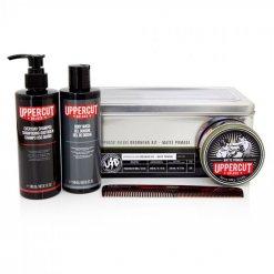 Coffret cheveux homme Uppercut Deluxe Matte Pomade Grooming Kit