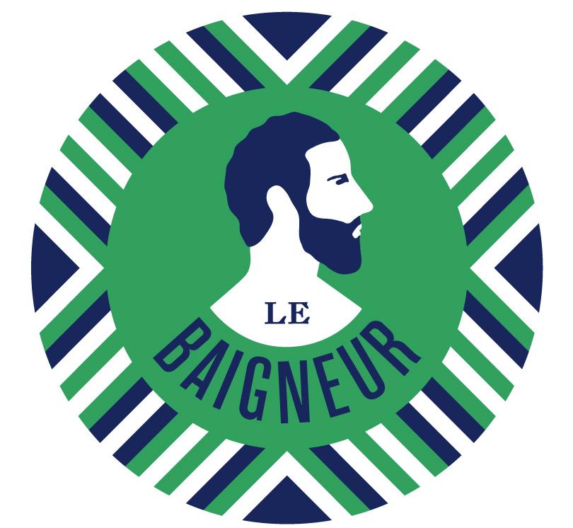 ♂ Logo Le Baigneur : une marque 100 % Made in France et naturel